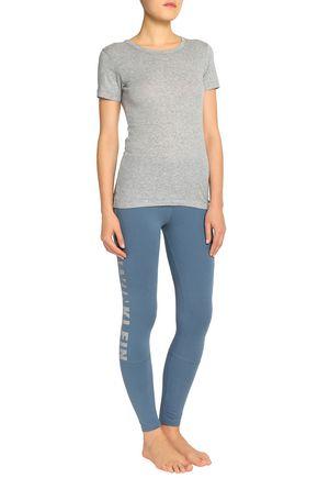 CALVIN KLEIN UNDERWEAR Printed stretch-cotton leggings