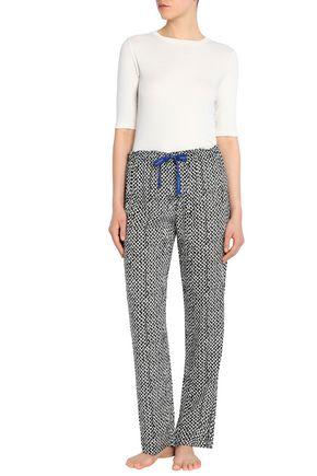 CALVIN KLEIN UNDERWEAR Printed crepe pajama pants