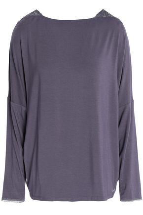 CALVIN KLEIN UNDERWEAR Seductive Comfort lace-trimmed stretch-modal pajama top