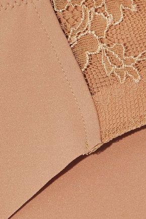 LA PERLA Stretch-jersey and corded lace mid-rise briefs