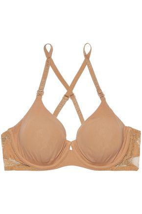 LA PERLA Lace-trimmed stretch-jersey underwired bra