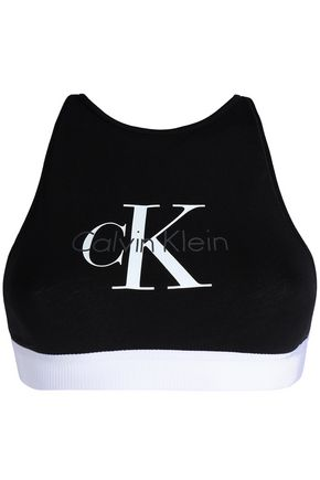 CALVIN KLEIN Printed stretch-cotton sports bra
