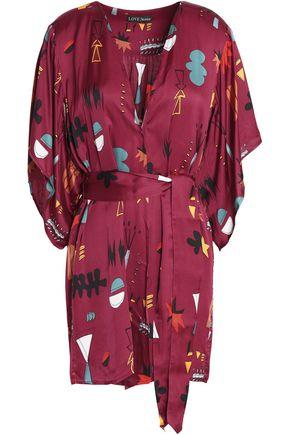 LOVE STORIES Printed satin robe