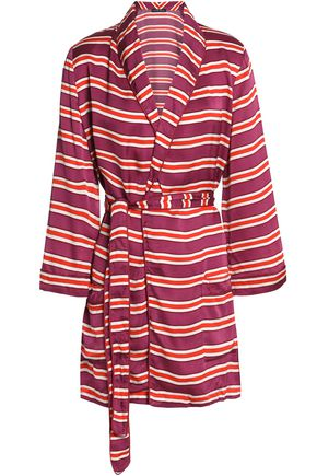 LOVE STORIES Striped jersey robe