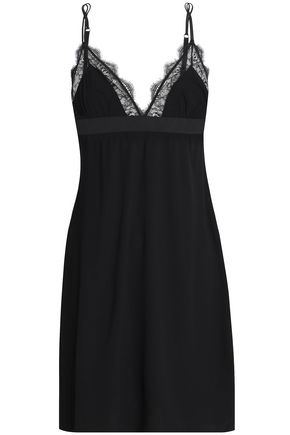 LOVE STORIES Flemming lace-trimmed stretch-jersey chemise