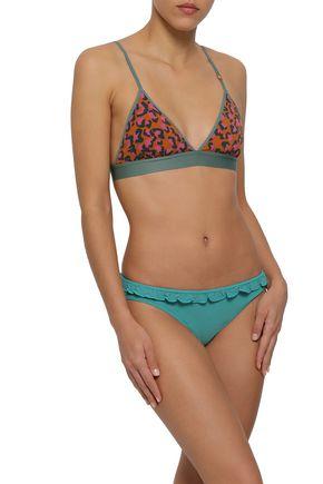 LOVE STORIES Leopard-print stretch-jersey soft-cup triangle bra