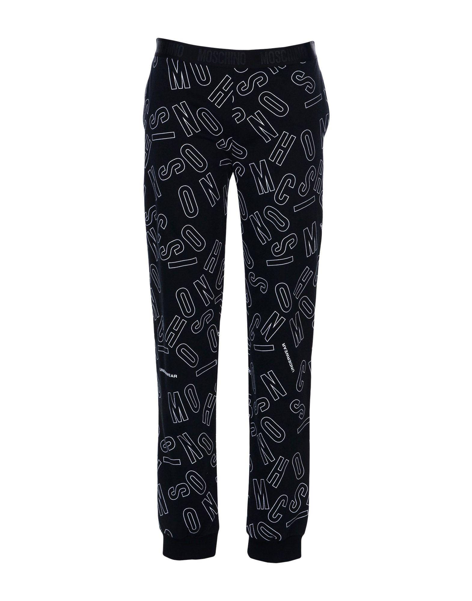 《送料無料》MOSCHINO レディース パジャマ ブラック S 100% コットン