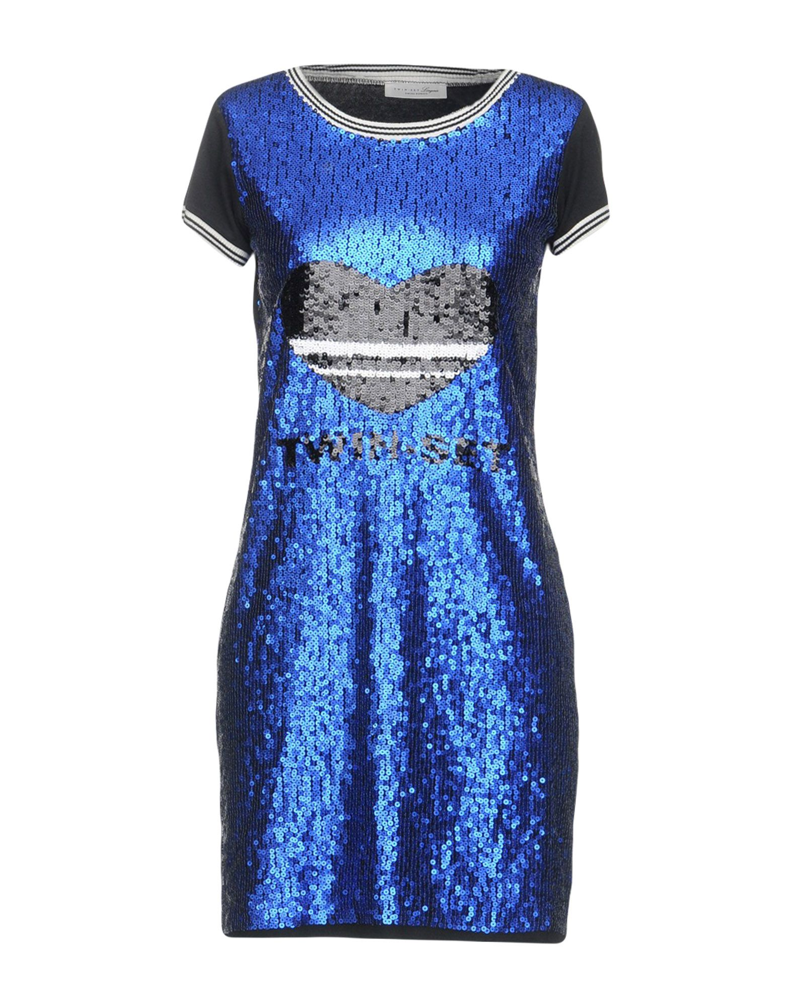 TWIN-SET LINGERIE Ночная рубашка black mesh applique lingerie set