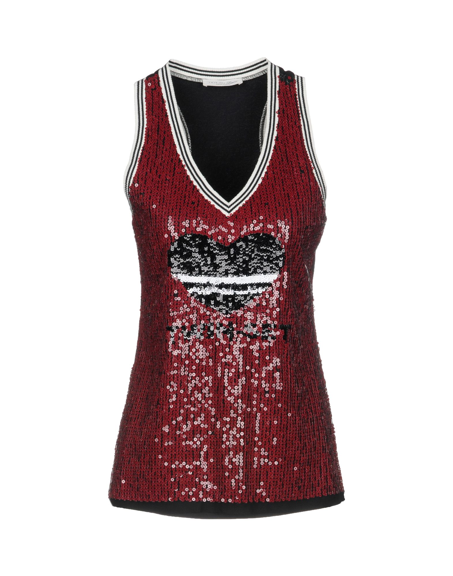 TWIN-SET LINGERIE Бельевая майка black lace details v neck with no falsies lingerie set