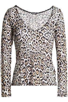 JUST CAVALLI UNDERWEAR Leopard-print stretch-jersey top