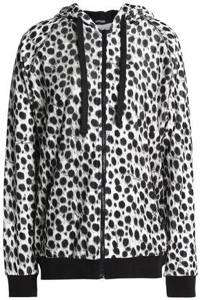 JUST CAVALLI UNDERWEAR Printed cotton-blend fleece sweatshirt
