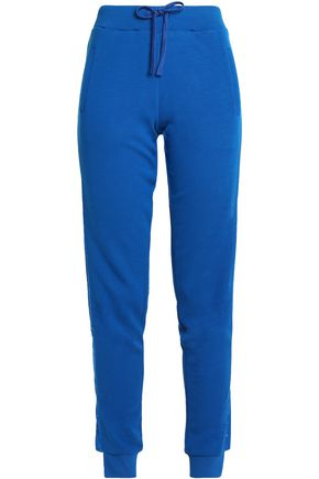 JUST CAVALLI UNDERWEAR Embellished French cotton-blend terry pajama pants