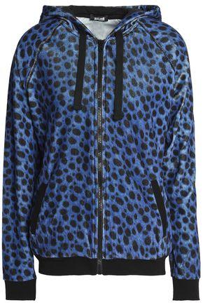 JUST CAVALLI Leopard-print chenille hooded jacket