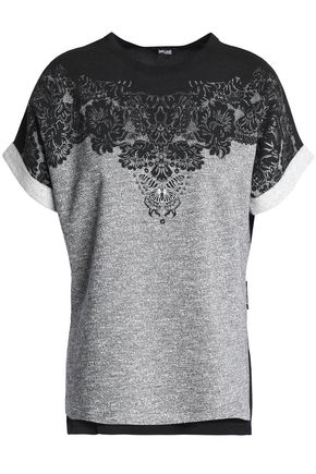 JUST CAVALLI UNDERWEAR Printed French cotton-blend terry top