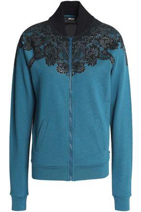JUST CAVALLI UNDERWEAR Printed French cotton-blend terry jacket