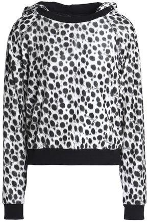 JUST CAVALLI UNDERWEAR Leopard-print chenille hooded jacket