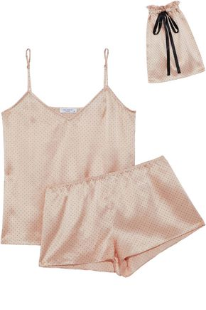 EQUIPMENT Alexy polka-dot silk-satin pajama set