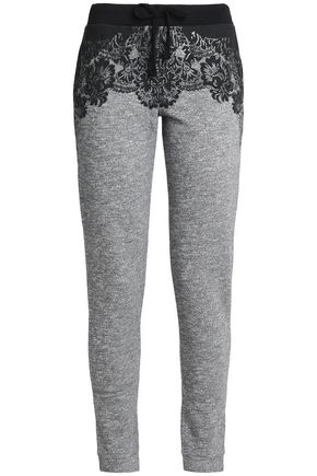 JUST CAVALLI UNDERWEAR Printed French cotton-blend terry pajama pants