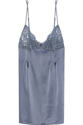 STELLA McCARTNEY Isabel Floating corded lace-paneled stretch-silk satin camisole