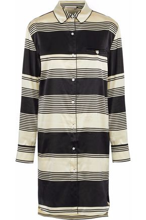 STELLA McCARTNEY Poppy Snoozing striped silk-satin nightshirt