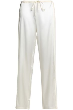 LA PERLA Georgette-paneled silk-blend satin pajama pants