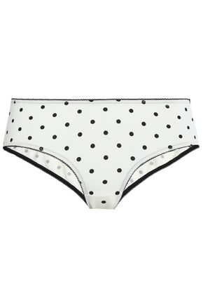 GANNI Polka-dot stretch-jersey briefs