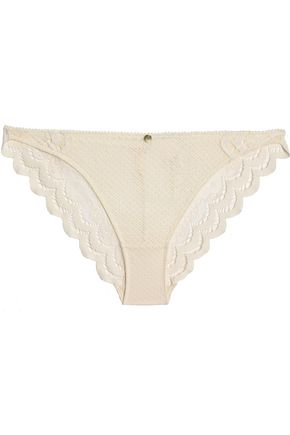 HEIDI KLUM INTIMATES Scalloped stretch-lace low-rise briefs