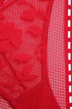 HEIDI KLUM INTIMATES Pointelle-trimmed lace mid-rise briefs
