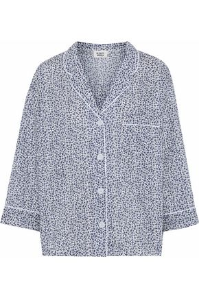 SLEEPY JONES Printed cotton pajama shirt