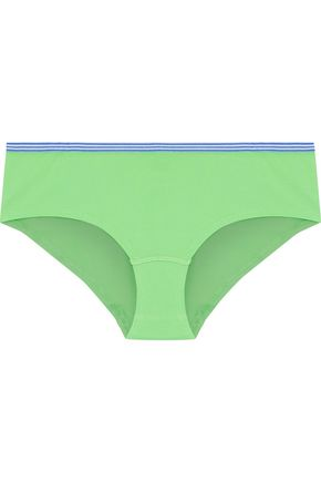 SLEEPY JONES Les Macaron stretch-cotton mid-rise briefs