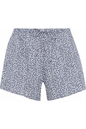 SLEEPY JONES Printed cotton pajama shorts