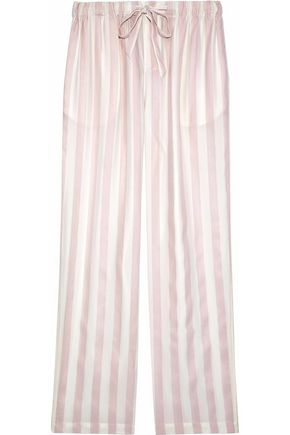 SLEEPY JONES Marina striped silk pajama pants
