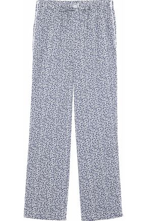 SLEEPY JONES Marina printed cotton-jersey pajama pants