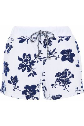 SLEEPY JONES Lucas floral-print cotton-jersey pajama shorts