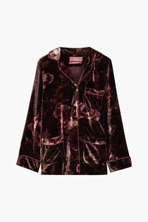 F.R.S. FOR RESTLESS SLEEPERS Floral-print velvet shirt