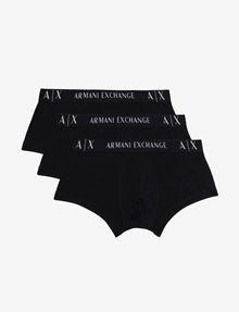 ARMANI EXCHANGE LOGO WAISTBAND BOXER BRIEFS, 3 PACK Boxer Man f