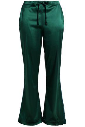 I.D. SARRIERI Silk-blend satin pajama pants