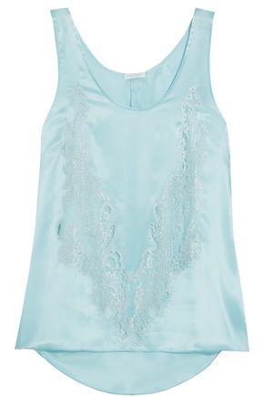 ROSAMOSARIO Cosmic Love Chantilly lace-paneled silk-satin camisole