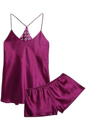 OLIVIA VON HALLE Silk-satin camisole