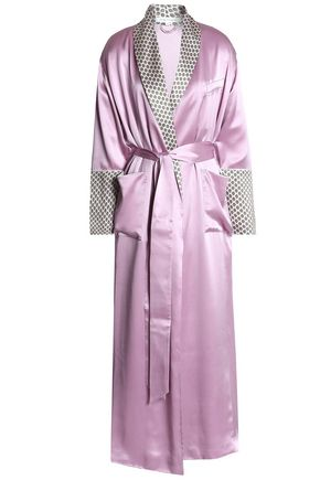 OLIVIA VON HALLE Silk-satin robe