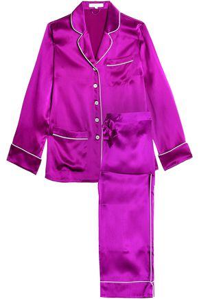 OLIVIA VON HALLE Silk-satin pajama set