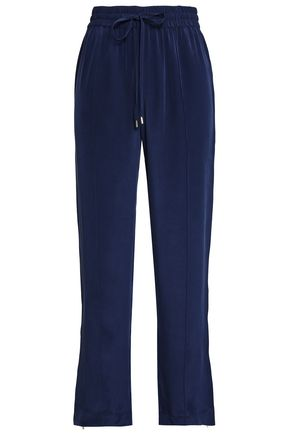 OLIVIA VON HALLE Silk crepe de chine pajama pants