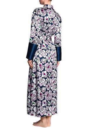 OLIVIA VON HALLE Printed silk robe