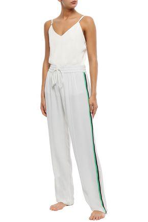 OLIVIA VON HALLE Silk-crepe pajama pants