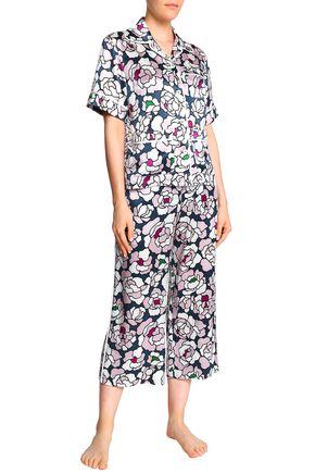 551464415c OLIVIA VON HALLE Floral-print silk-satin pajama set