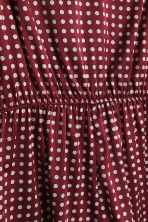STELLA McCARTNEY Lace-trimmed leoaprd-print silk-blend satin playsuit