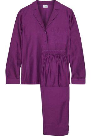 IRIS & INK Sharon cotton and silk-blend twill pajama set