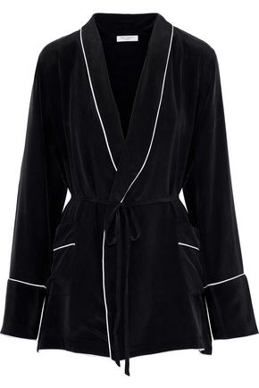 EQUIPMENT Theron washed-silk robe