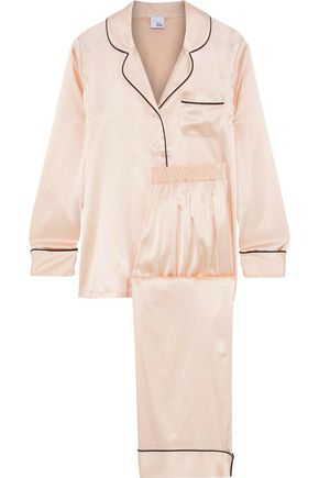 IRIS & INK Mairead silk-blend charmeuse pajama set
