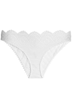 STELLA McCARTNEY Rachel broderie anglaise and lace low-rise briefs
